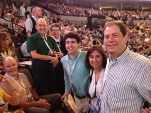 Dr. Joel Schlessinger and family at Berkshire Hathaway meeting