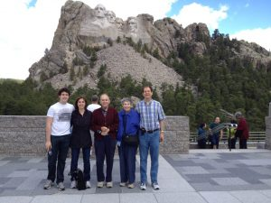 The Schlessinger Family at Mount Rushmore